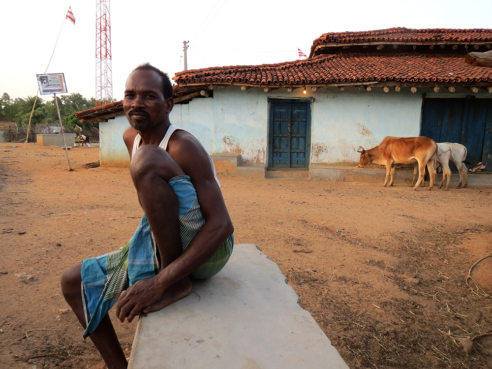 Babulal Oraon, a farmer, says villagers are scared of being caught selling cattle.