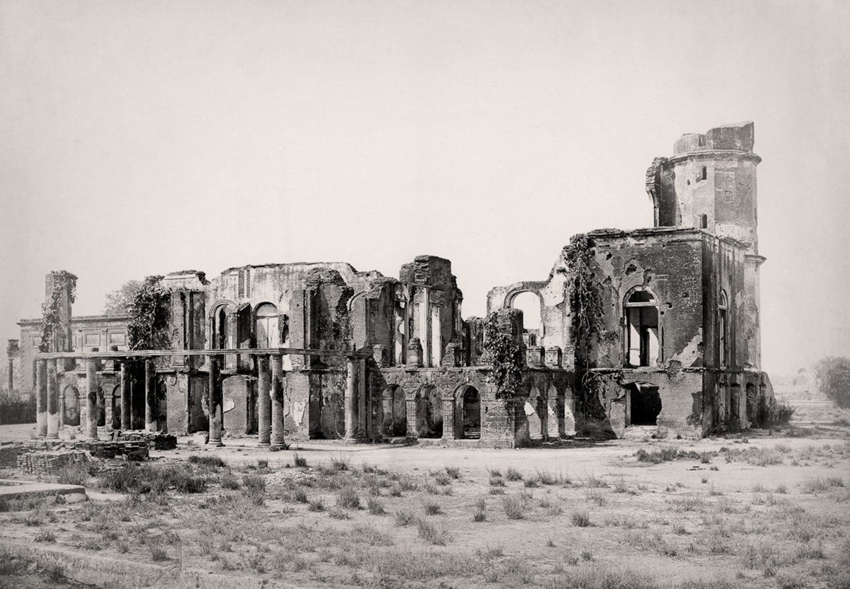 Lucknow, ruins of the Residency, c. 1860. Courtesy: MAP/Tasveer