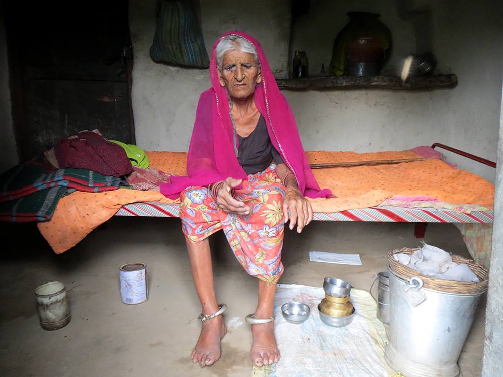 Daku Devi is 90, bed-ridden and lives by herself in Kushalpura in Rajsamand. She was recorded as dead and her widow pension of Rs 750 stopped after she failed to open a bank account.