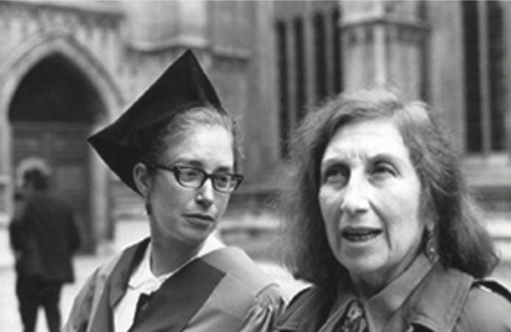 With her mother Rita in Oxford, 1973.