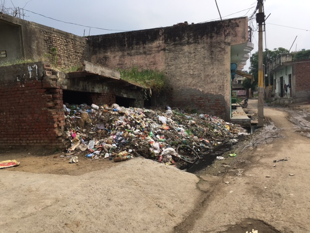 A derelict structure used as a garbage dump at Sarfabad village. Photo: Menaka Rao
