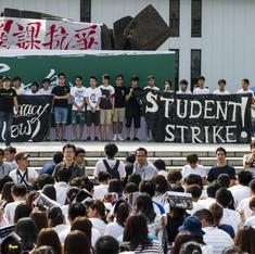 Hong Kong sees massive student demonstrations, just like in Kolkata