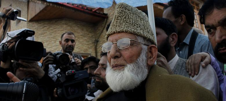 Police arrest separatist leader Syed Geelani in Srinagar for attempting to visit Martyrs graveyard