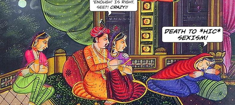 A new comic strip uses Mughal miniatures to convey contemporary angst