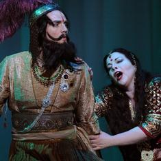 Five songs from Western operas set in South Asia