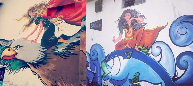 Pictures: Street art is quietly taking over drab walls covered with ugly advertising in Delhi