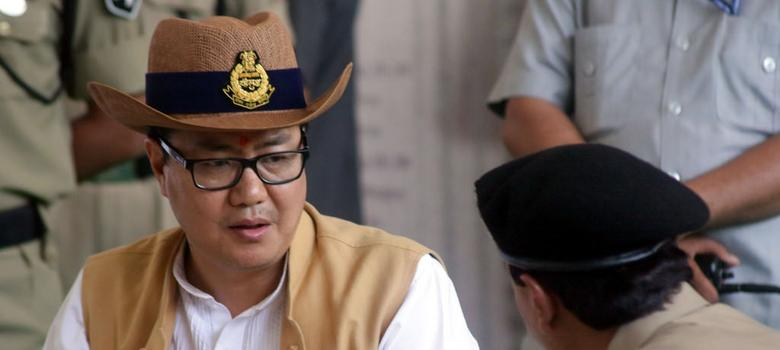 Kiren Rijiju may have defended beef eating – but he has attacked the idea of India