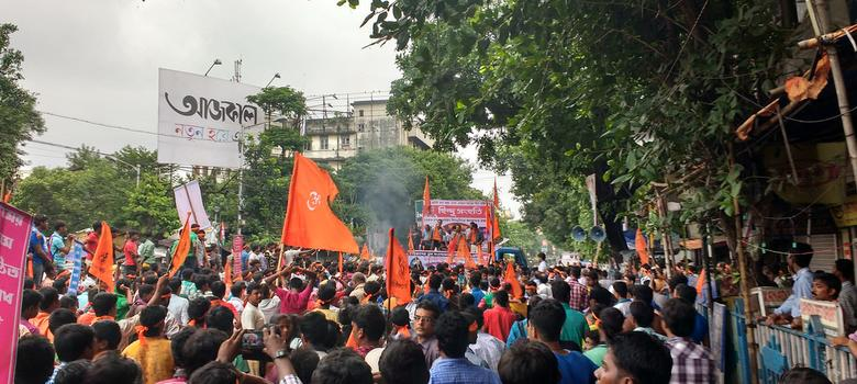 Why did 3,000 people march in Kolkata to mark the 1946 Direct Action Day riots?