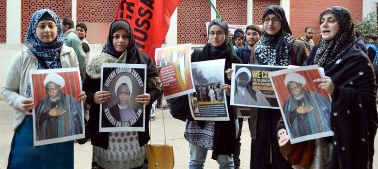 Shias across India protest the detention in Nigeria of an Iran-backed cleric