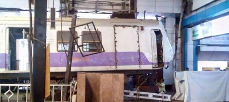 Video: Mumbai train jumps onto platform at Churchgate, no casualties reported