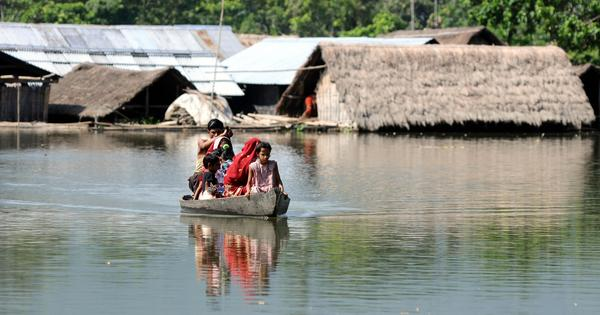 Snapshots from flood hit Assam as death toll starts ticking and lakhs are affected