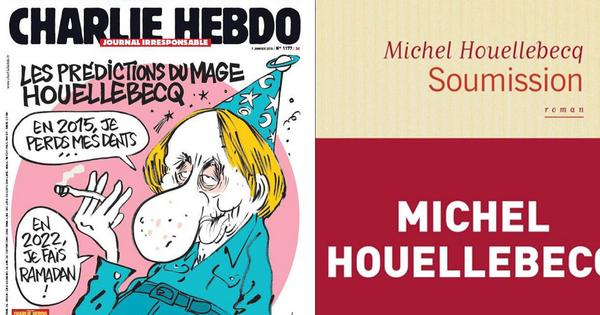 What's the connection between Houellebecq's novel Soumission and the Charlie Hebdo killings?