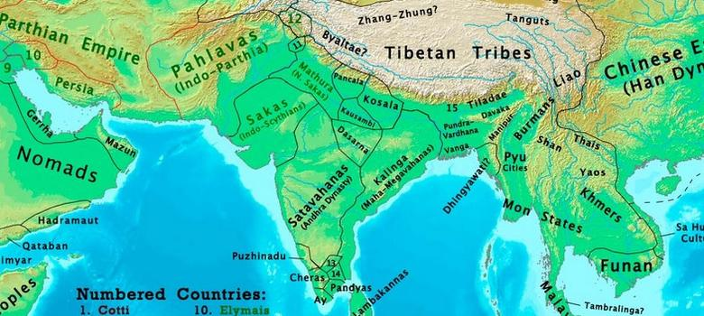 Changing Map Of India From AD To The Th Century - World map marathi language