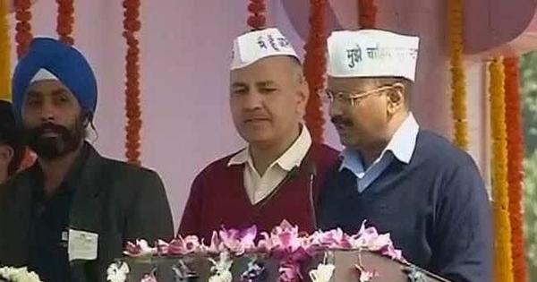 Video: After taking oath of office, Kejriwal breaks into 'refreshingly goofy' song, again!