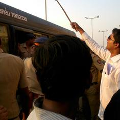 BJP supporters throw stones at Dalit protestors outside Fadnavis swearing-in ceremony