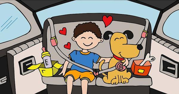 The sheer joy of bringing up baby and dog together