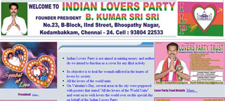 Indian Lovers Party and other options this election