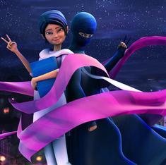 Meet the first Pakistani cartoon on Indian TV: a burka-clad female superhero