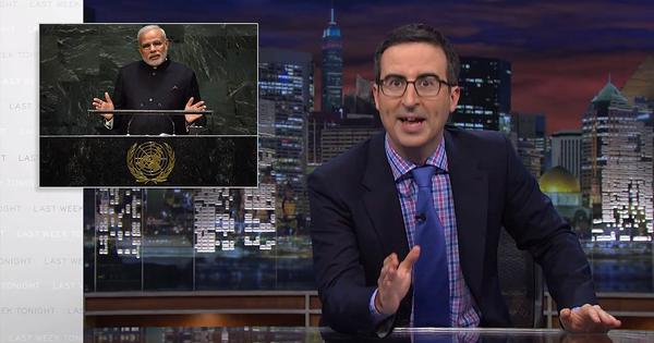 John Oliver is amused by Modi's visit to New York