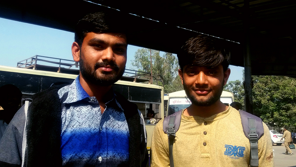 Himanshu and Mevarsh Patel travel from rural Morbi to attend college in the city.