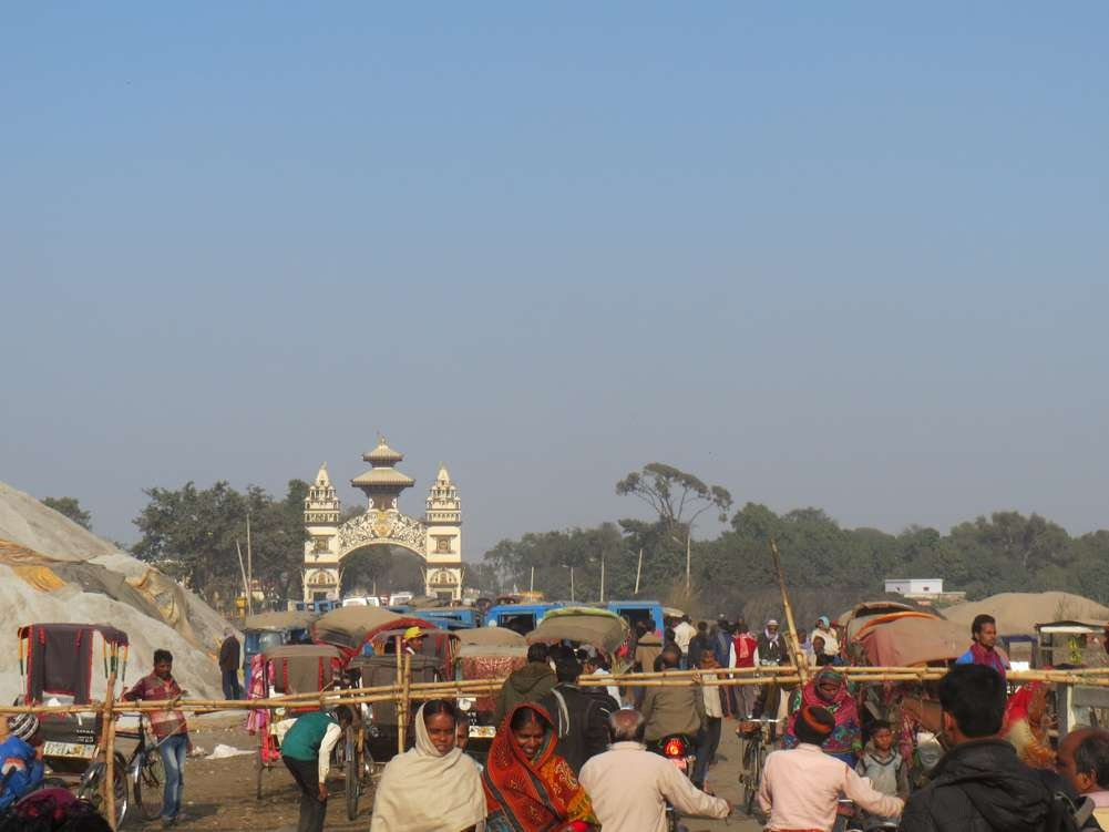 Shankaracharya Gate, a few meters beyond the Maitreyi bridge, the gateway to Nepal