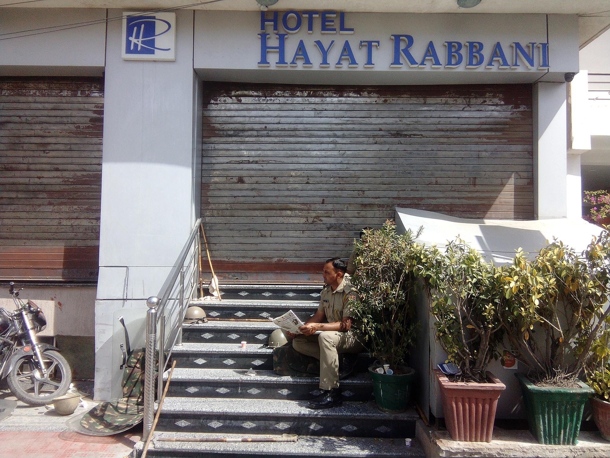 Hotel Hayat Rabbani in Jaipur was shut down for months after the episode in March. Photo: Abhishek Dey