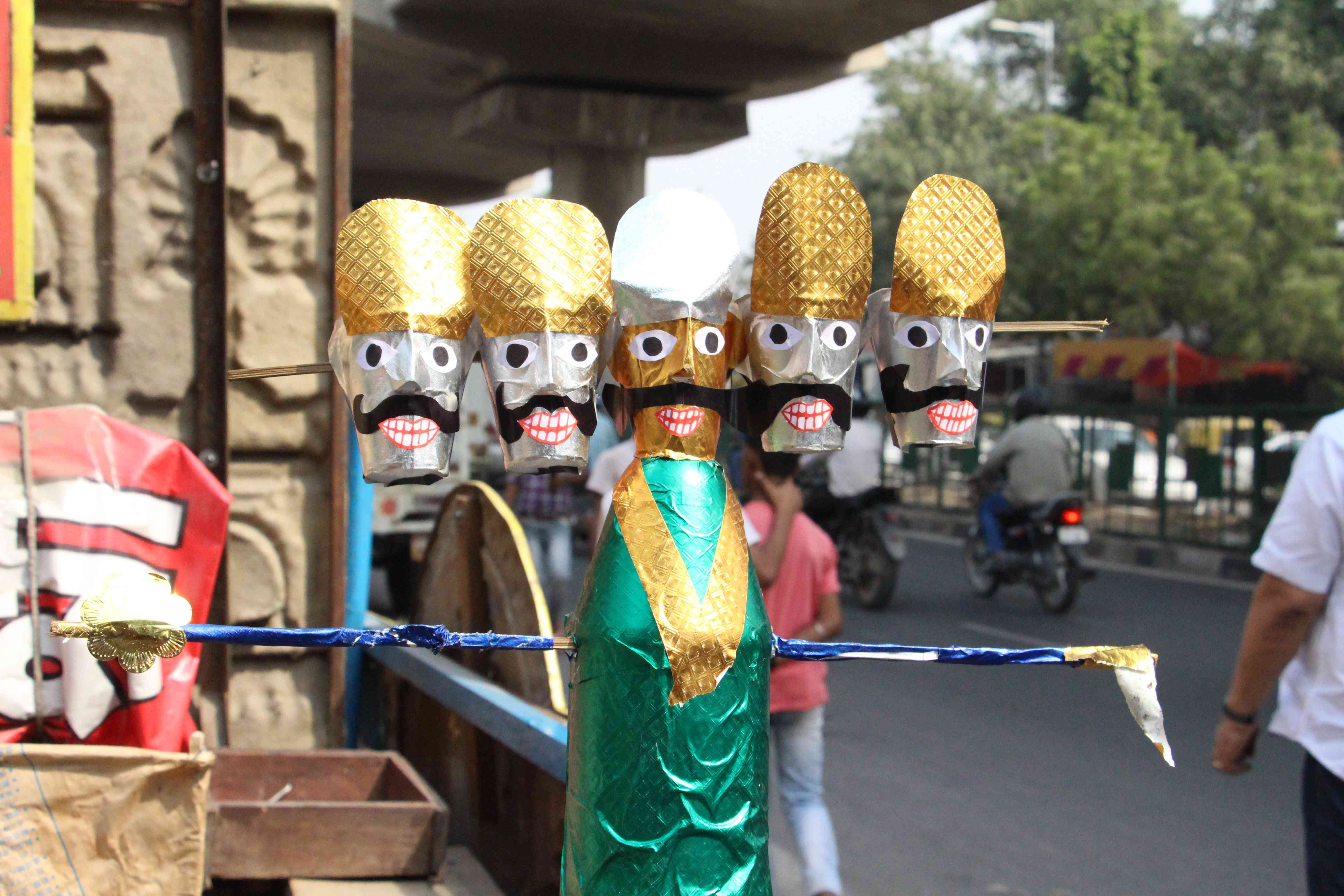 The effigies are stuffed with firecrackers and other flammable substances before they are sett alight.