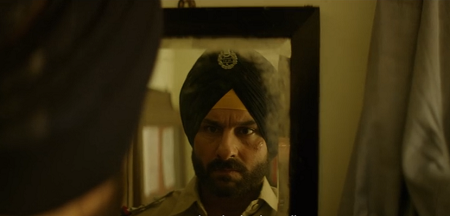 Saif Ali Khan as Sartaj Singh. Credit: Netflix.