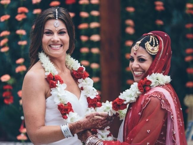 First Indian lesbian wedding in America. Photo credit: Transgender-Lesbo Legal Rights/Facebook