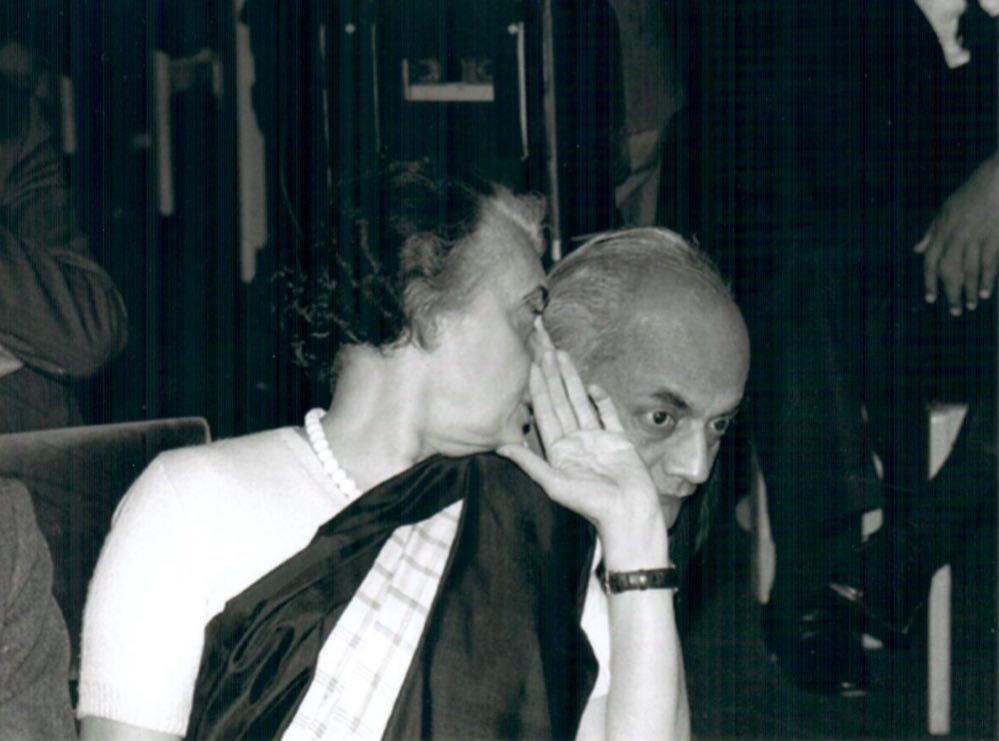 Indira Gandhi and Sharada Prasad, 1983. Image courtesy: Jairam Ramesh