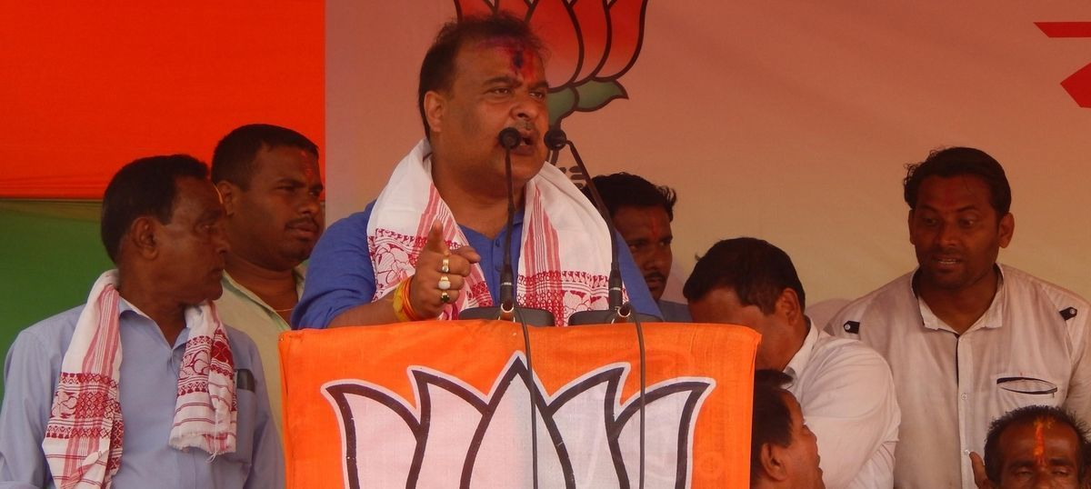 Health Minister Himanta Biswa Sarma unveiled the draft of the two-child population policy on Sunday. Analysts believe it is directed at Bengali-speaking Muslim immigrants, who are perceived to have larger families. Photo credit: IANS.