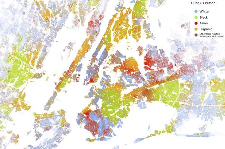 Racial segregation in New York City.