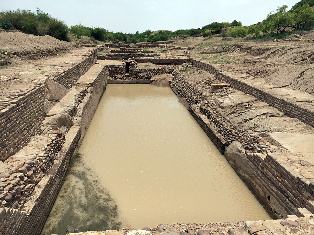 Ruins of the well-planned Indus Valley Civilisation settlement at Dholavira, Kutch.  (Photo credit: M Rajshekhar).