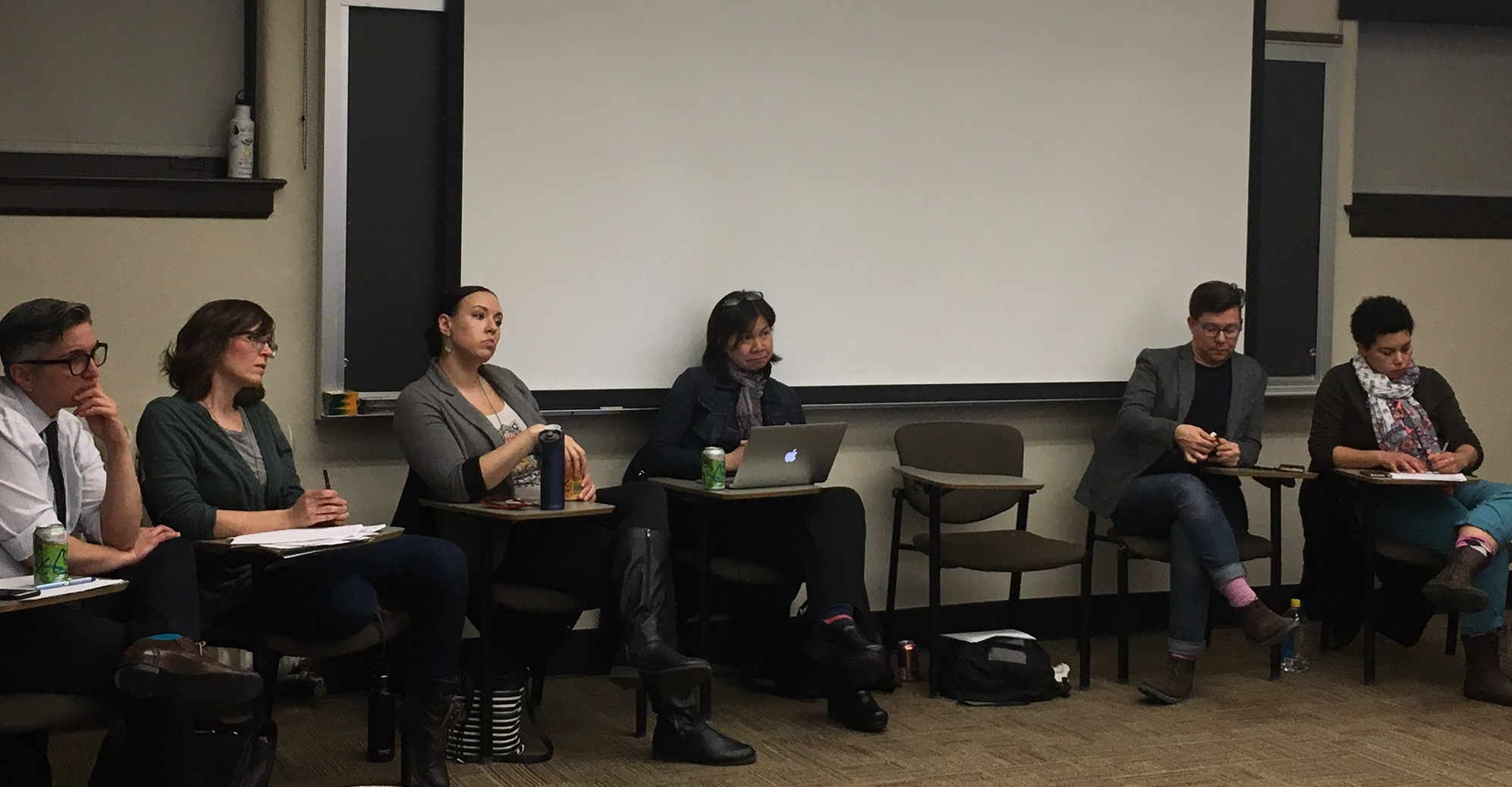 "Panelists discussing teaching in the age of ""alternative facts"". (Photo: Priyanka Vora)"