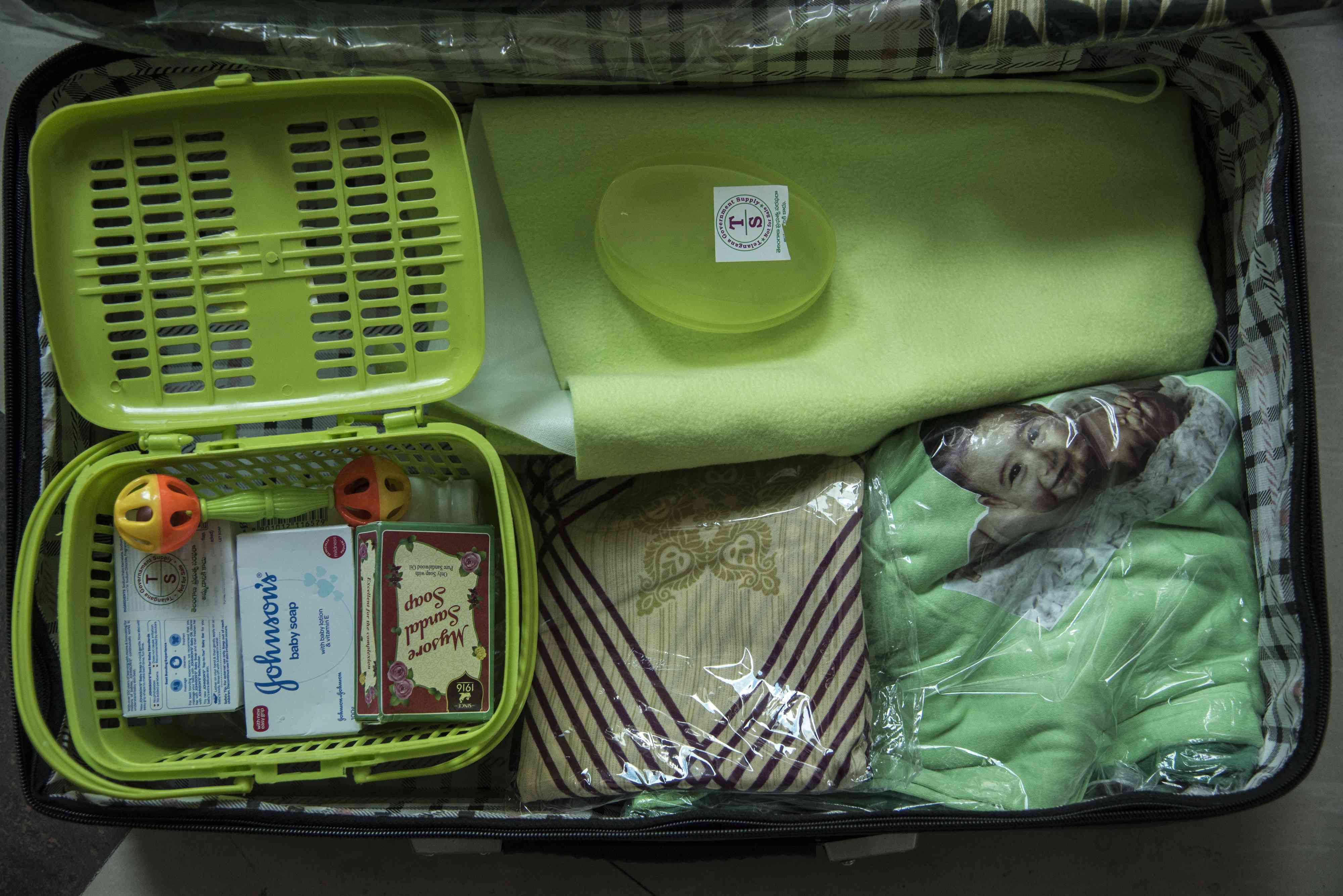 The KCR Kit equipped with 16 items to help care for a newborn child. (Photo: Saumya Khandelwal)
