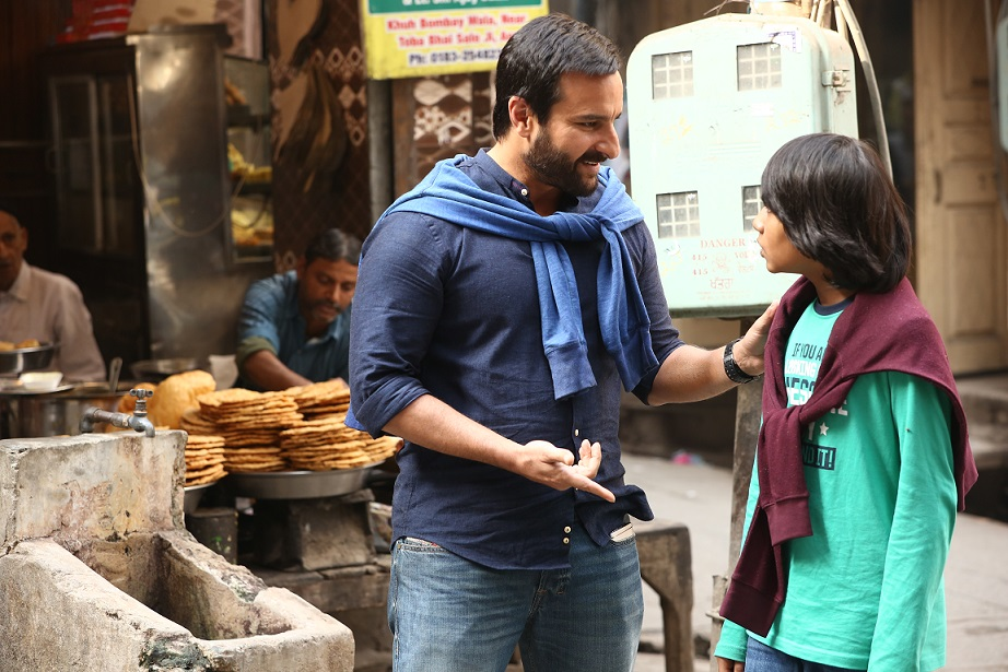 Saif Ali Khan and Svar Kamble. Image credit: Bandra West Pictures.