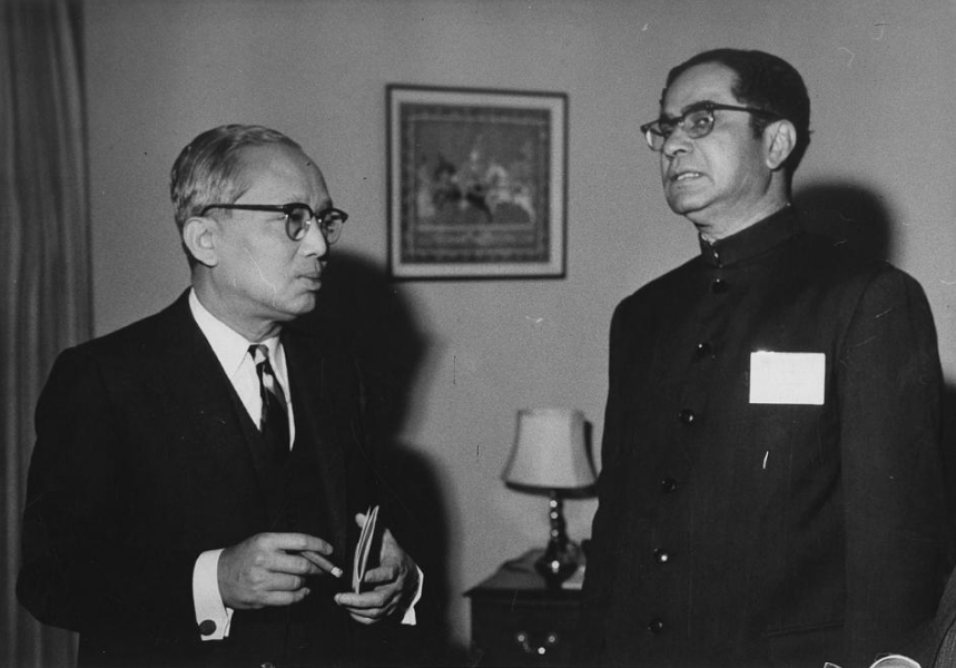 Gopalaswami Parthasarathi (right) as India's permanent representative to the United Nations in New York. (Photo credit: PIB)