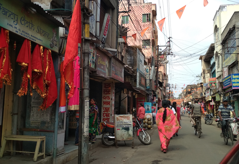 The Ram Navami procession route in Raniganj.