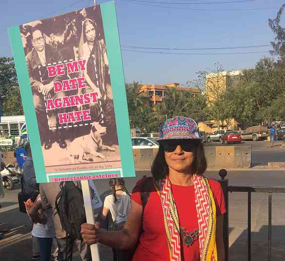 Rajkumari Asthana at the march in Mumbai. Photo credit: Sruthi Ganapathy Raman