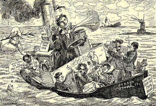 हेनरी फोर्ड के 'पीस शिप' पर मीडिया में प्रकाशित हुआ कार्टून
