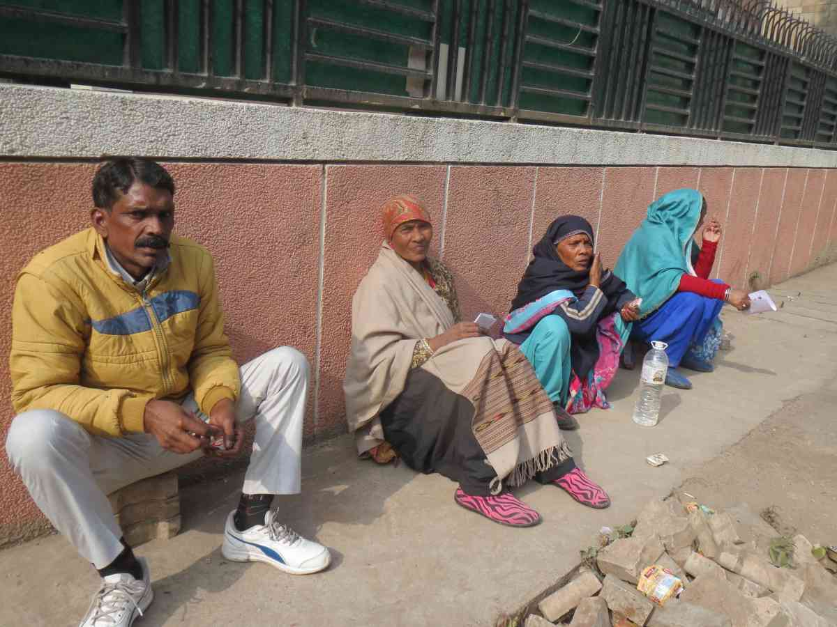 Municipal workers did not join the strike in Delhi. (Photo credit: Anumeha Yadav).
