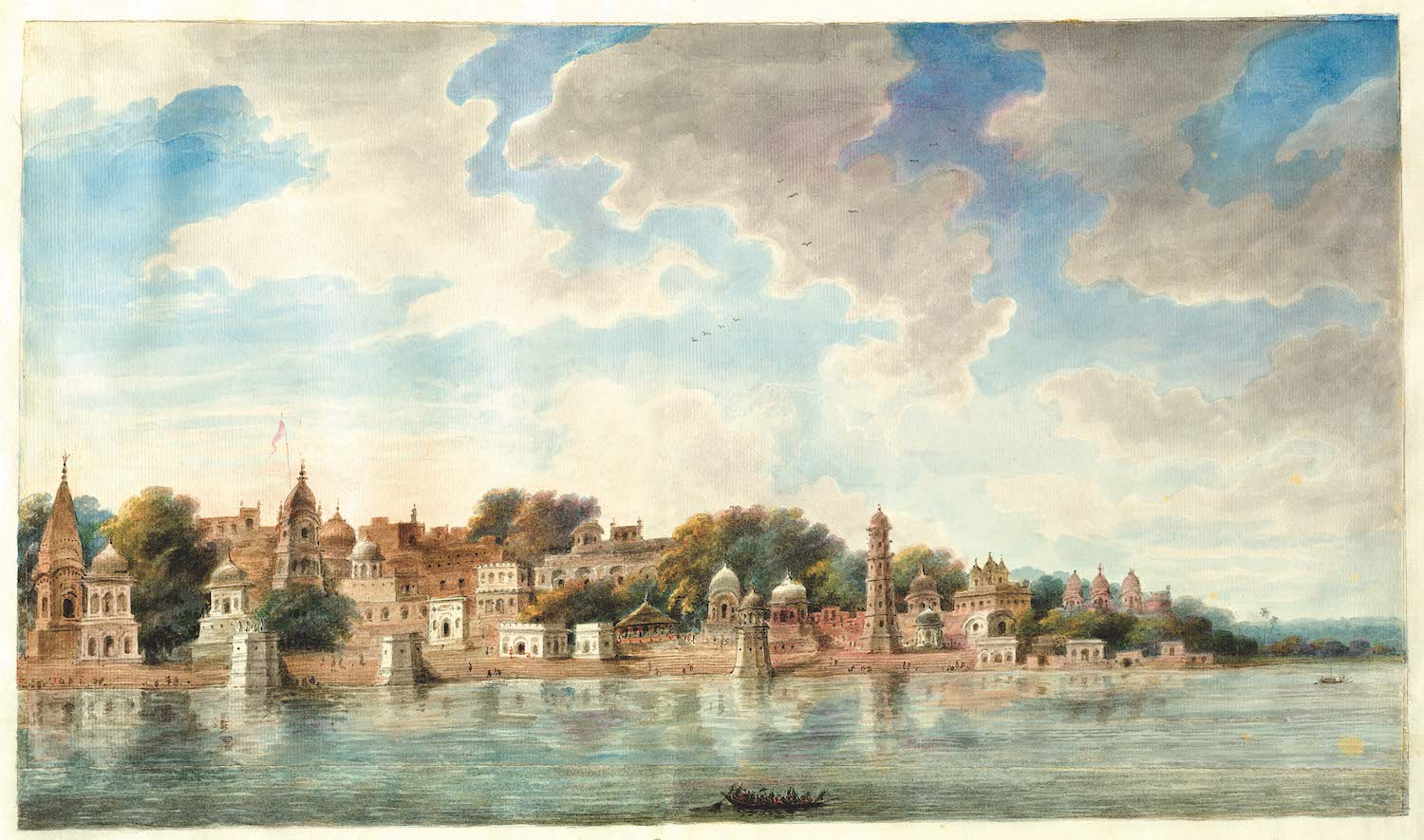 The ghats on the River Jumna at Mathura.