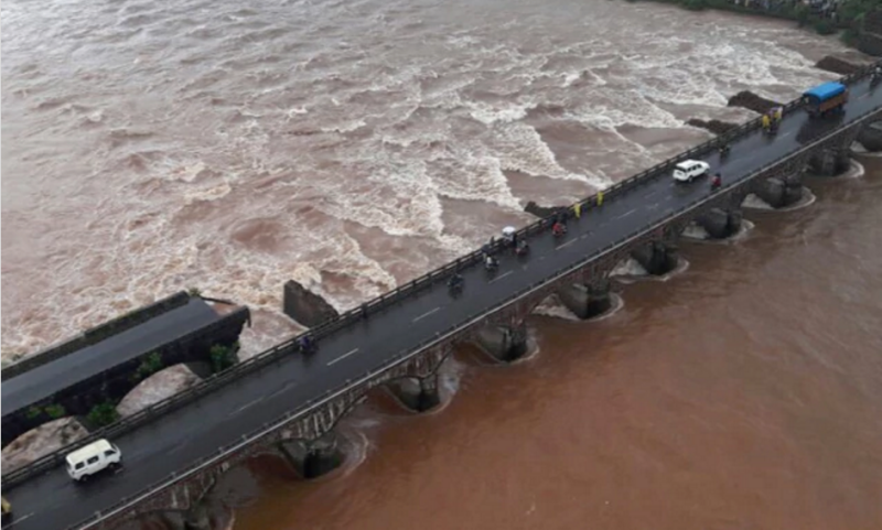 The Mahad bridge in Raigad district of Maharashtra collapsed last August. (Photo credit: HT).