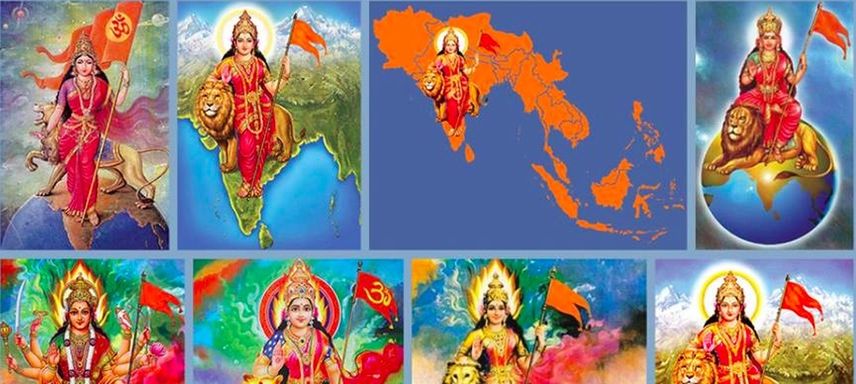 far from being eternal bharat mata is only a little more than 100
