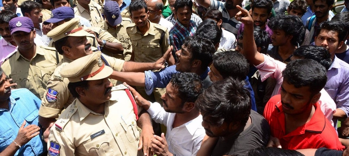 Hyderabad University registrar says no human rights violations were committed on campus