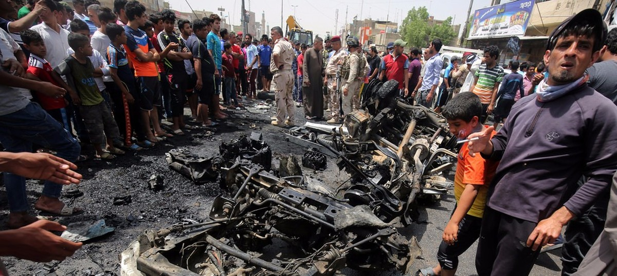At least 50 dead in Islamic State bombing in Baghdad market