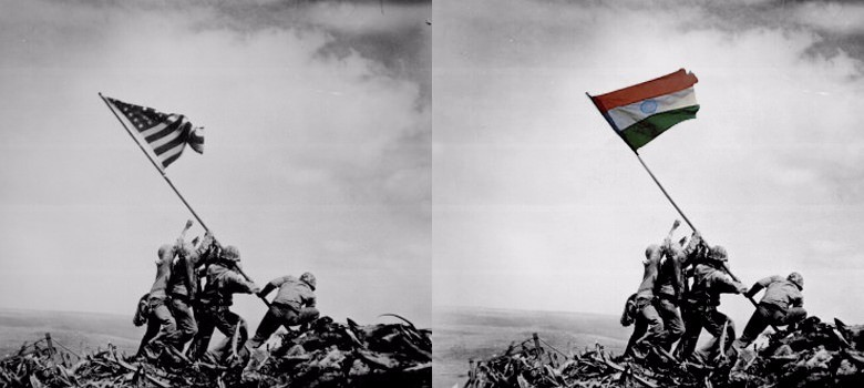 The tricolour over Iwo Jima: The BJP confuses Photoshop for history yet again