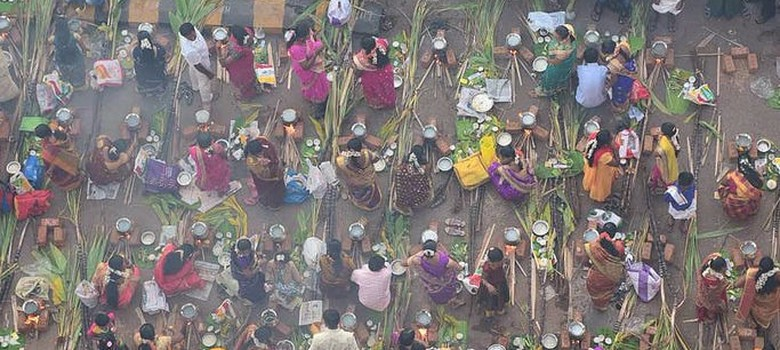In Mumbai's Dharavi, Pongal is the occasion for a massive street party