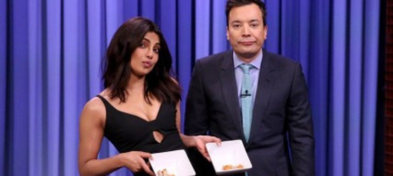 [Video]: Watch Priyanka Chopra beat Jimmy Fallon at chicken wing eating
