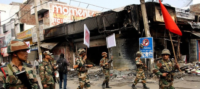 In pictures: Arson and violence spread in Haryana as Jat agitation shows no sign of letting up